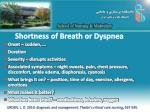 shortness of breath or dyspnea