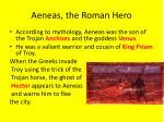 aeneas the roman hero