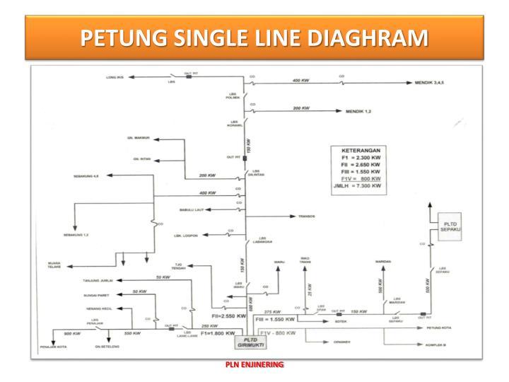 PETUNG SINGLE LINE DIAGHRAM