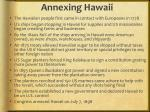 annexing hawaii1