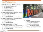 alcf resources
