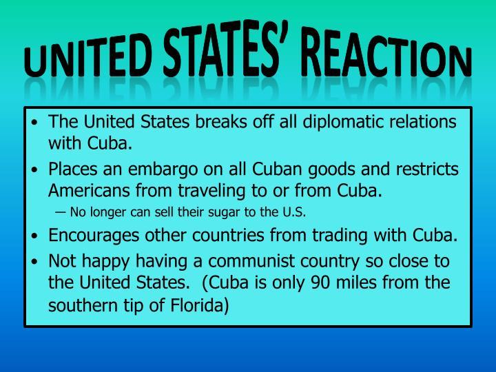 United States' Reaction