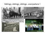 siblings siblings siblings everywhere