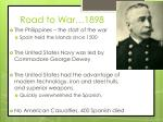 road to war 1898