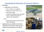 conventional antimony treatment options