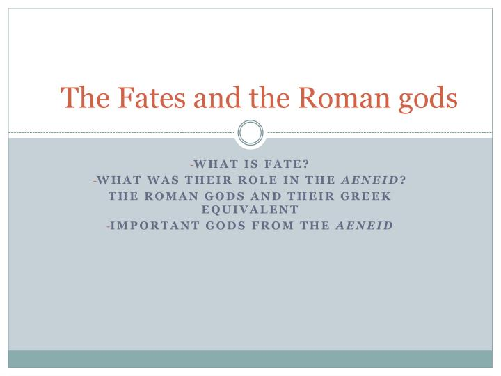 the fates and the roman gods n.