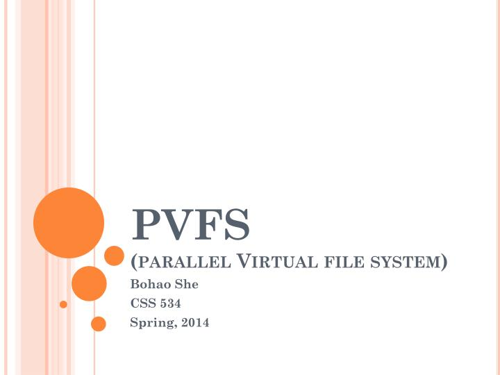 pvfs parallel virtual file system n.