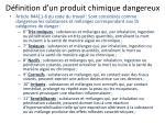 d finition d un produit chimique dangereux1