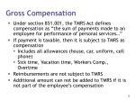 gross compensation