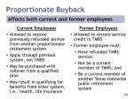 proportionate buyback