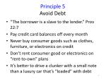 principle 5 avoid debt