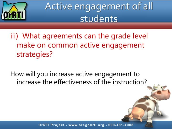 Active engagement of all students