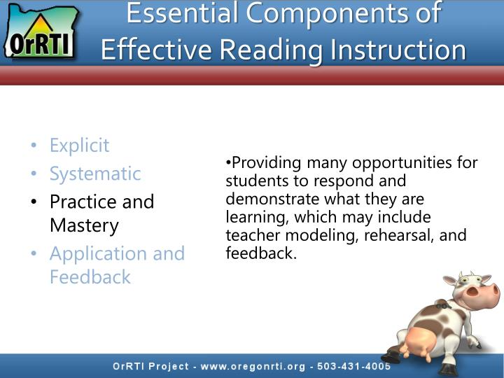 Essential Components of Effective Reading Instruction