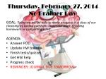 thursday february 27 2014 no brainer day