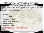 tuesday february 25 2014 clam chowder day