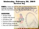 wednesday february 26 2014 carnival day