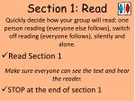 section 1 read