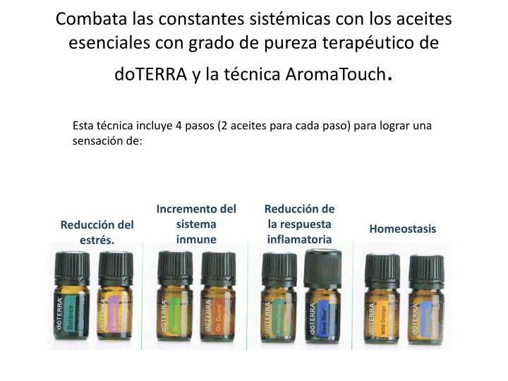 Combata las constantes sistémicas con los aceites esenciales con grado de pureza terapéutico de doTERRA