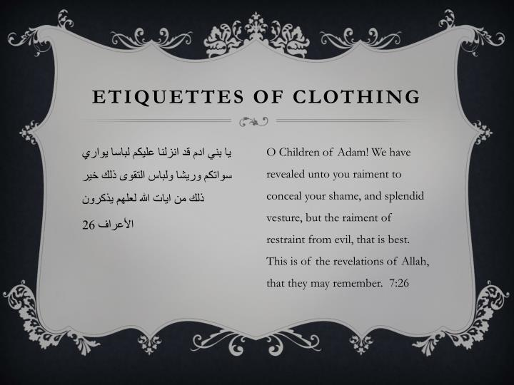 etiquettes of clothing n.