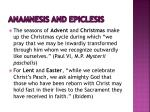 anamnesis and epiclesis