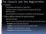 the consuls and the magistrates