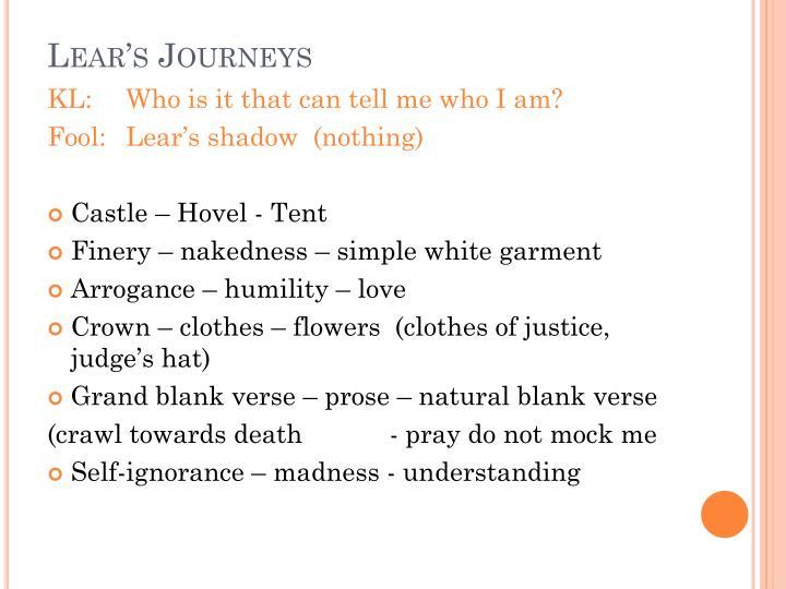 Lear s journeys