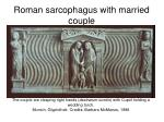 roman sarcophagus with married couple
