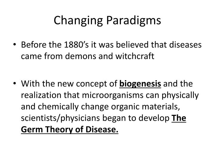 how did the theory of biogenesis lead the way for the germ theory of disease How did the theory of biogenesis lead the way for the germ theory of disease 200 words answer preview : solution: the theory of biogenesis can be explained as either the animal, plant or the microorganisms may get originated from their parents like as them.