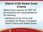 district 5160 global grant criteria