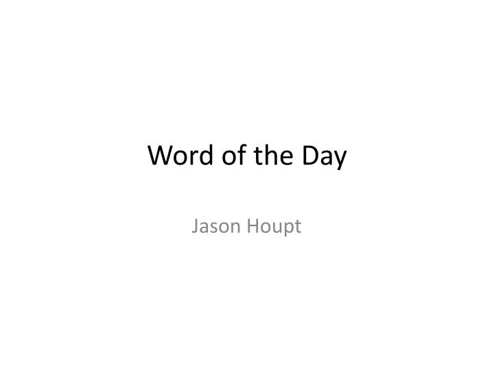 word of the day n.