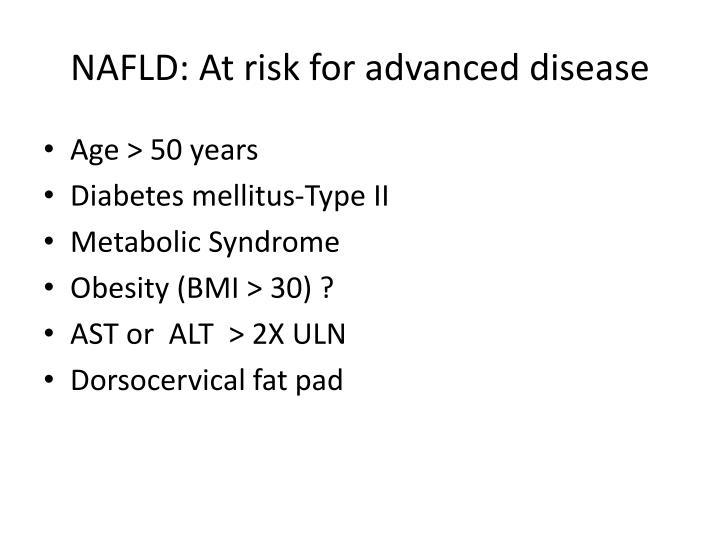 NAFLD: At risk for advanced disease