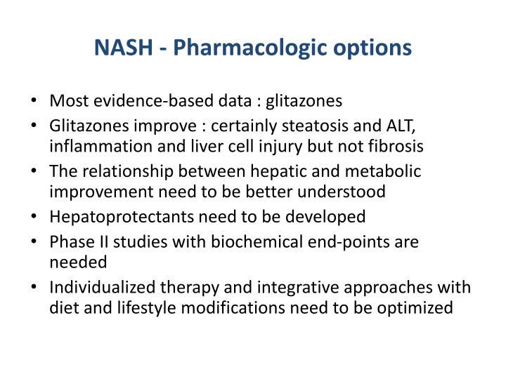 NASH - Pharmacologic options