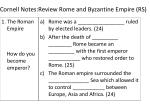 cornell notes review rome and byzantine empire rs