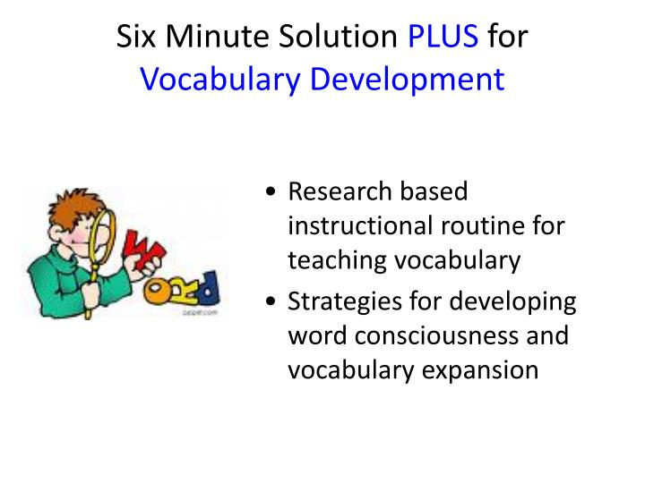 Ppt The Six Minute Solution Plus Reading Comprehension And