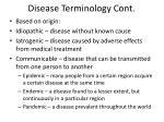 disease terminology cont1