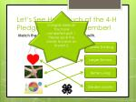 let s see how much of the 4 h pledge you can remember4