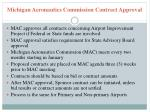 michigan aeronautics commission contract approval