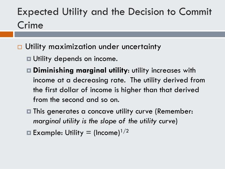 Expected Utility and the Decision to Commit Crime