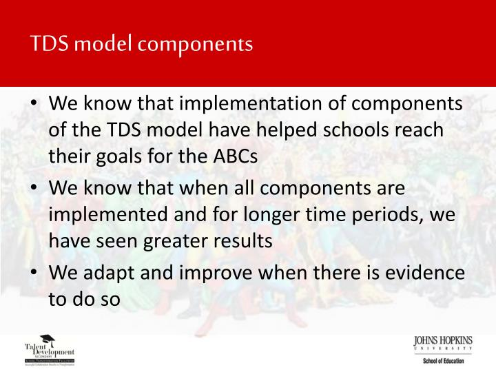 TDS model components
