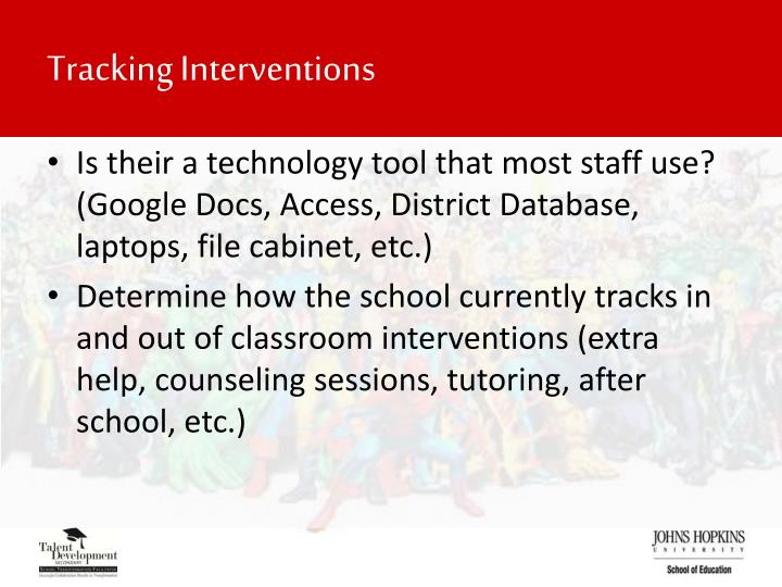 Tracking Interventions