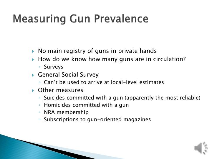 Measuring gun prevalence