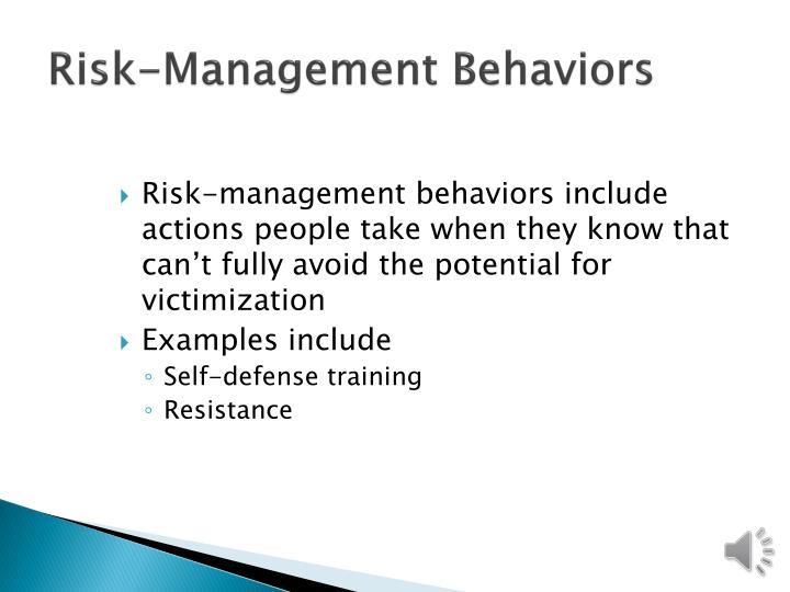 Risk-Management Behaviors