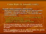 crime rates amounts cont