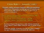 crime rates v amounts cont