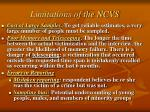 limitations of the ncvs