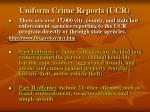 uniform crime reports ucr