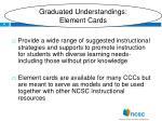 graduated understandings element cards