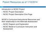 parent resources as of 1 10 2014