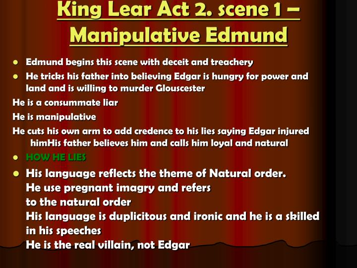 theme of foolishness in king lear King lear, part ii--it's all about the play by  the unanimous belief is the main plot of king lear and his daughters is based  this theme reappears with lear .