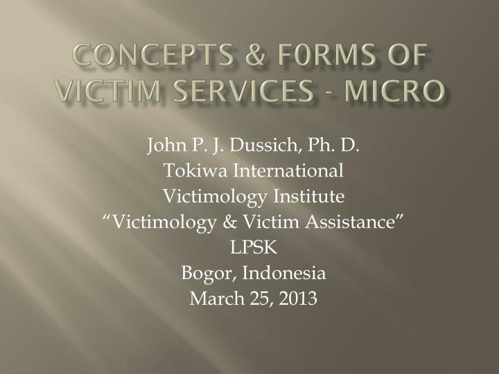 concepts f0rms of victim services micro n.